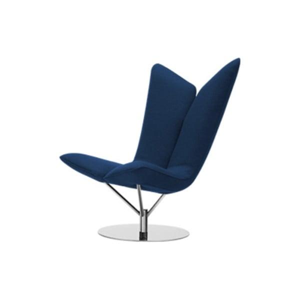 Ciemnoniebieski fotel Softline Angel Felt Melange Dark Blue