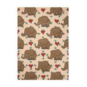Dětský hnědý koberec Zala Living Elephant, 140x200cm