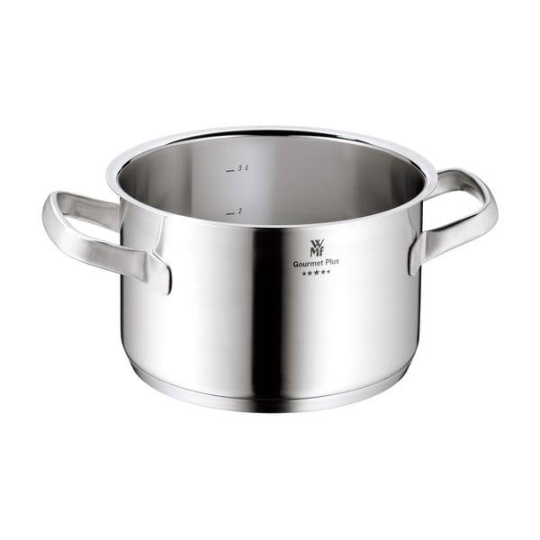 Oală din oțel inoxidabil cu capac WMF Cromargan® Gourmet Plus, ⌀ 20 cm
