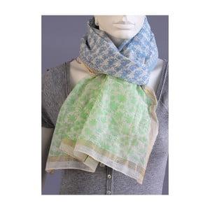 Zelenkavý šátek