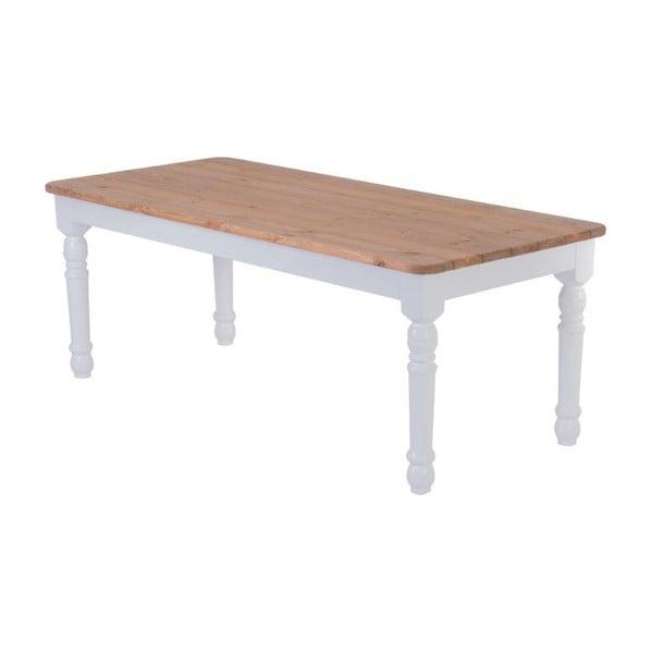 Zahradní stůl Siesta White/Natural, 200x90 cm
