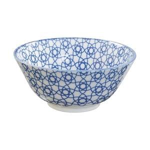 Modrá porcelánová miska Tokyo Design Studio Stripe, ⌀15,2cm