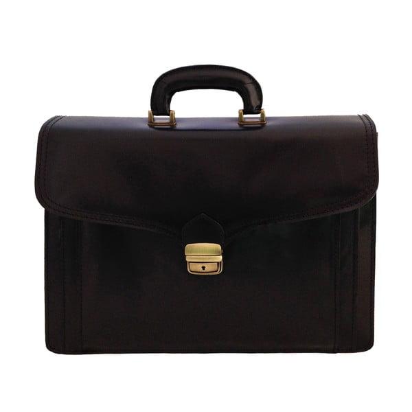 Kožený kufřík Passito, černý