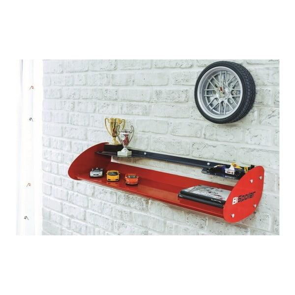 Červená nástěnná police Champion Racer Hanger Shelf