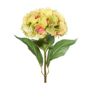 Umělá květina s růžovo-zelenými květy Ixia Hydrangea, výška68cm