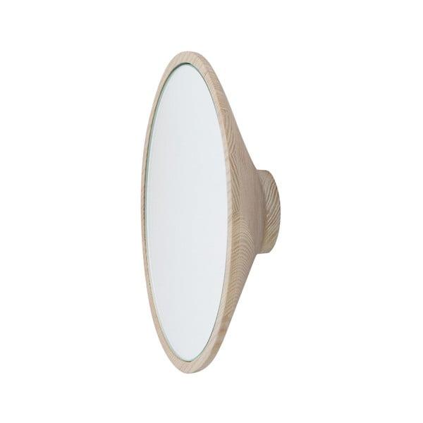 Cuier de perete cu oglindă Furniteam Beauty, ⌀ 20 cm