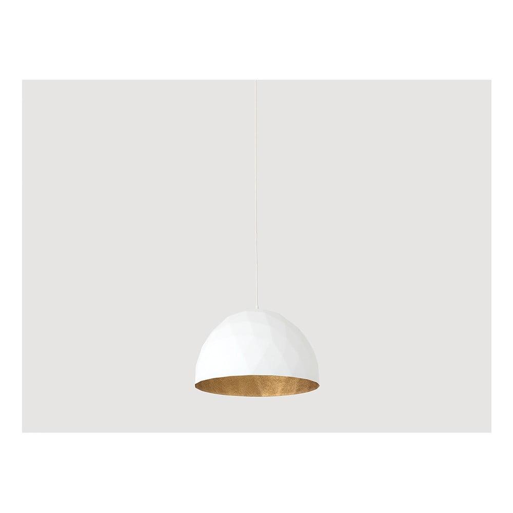 a67e90e6c4c7 Bílé závěsné svítidlo s detailem ve zlaté barvě Custom Form Leonard