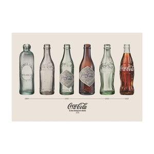 Plakát Coca Cola Bottles, 61x91 cm