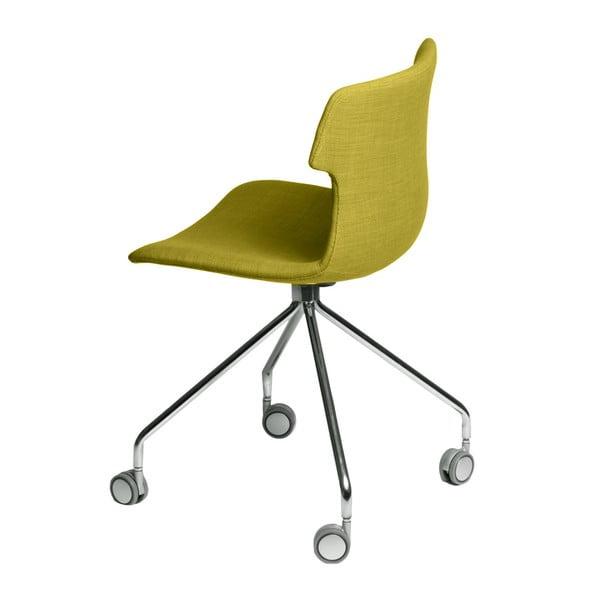 Sada 2 zelených čalouněných židlí D2 Techno Roll