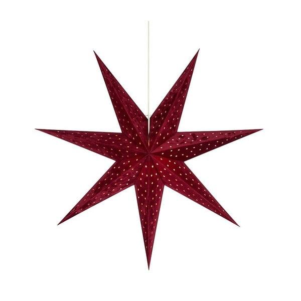Czerwona wisząca dekoracja świetlna Markslöjd Velours, wys. 75 cm