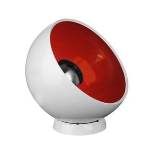 Stolní lampa Spot, červená/bílá