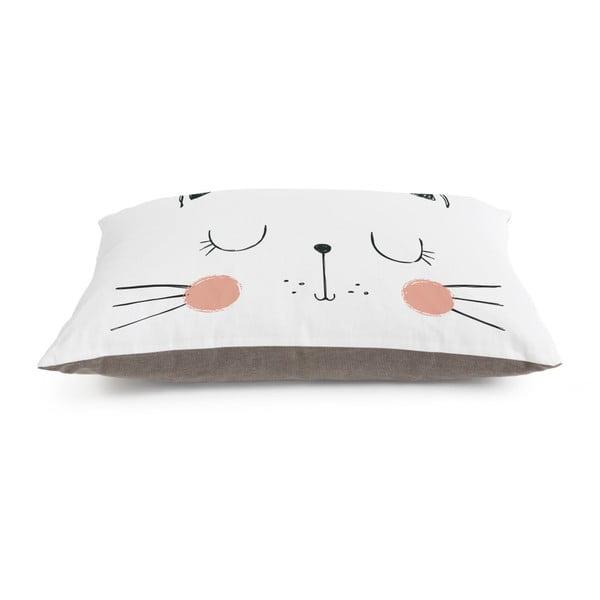 Dětský polštář na hraní Little Nice Things Cat, 80 x 60 cm