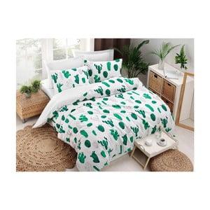 Lenjerie din bumbac pentru pat de o persoană Puresso Plantea, 140 x 200 cm
