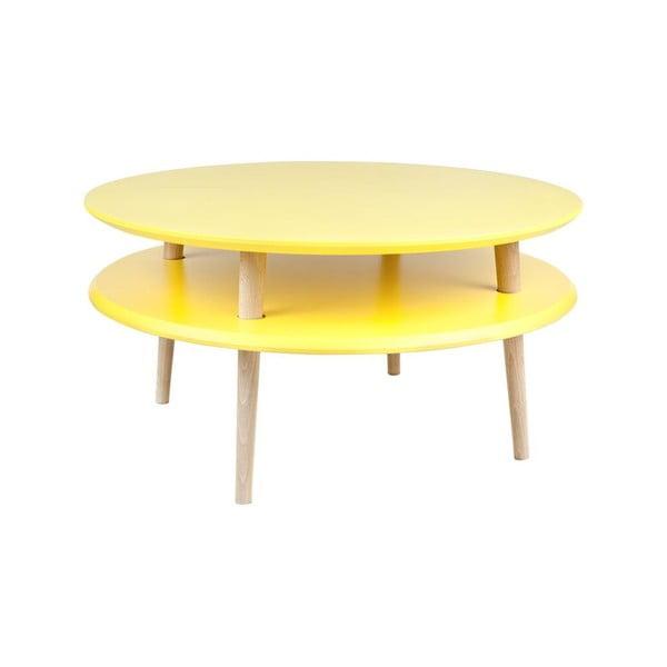 Konferenční stolek UFO 35x70 cm, žlutý