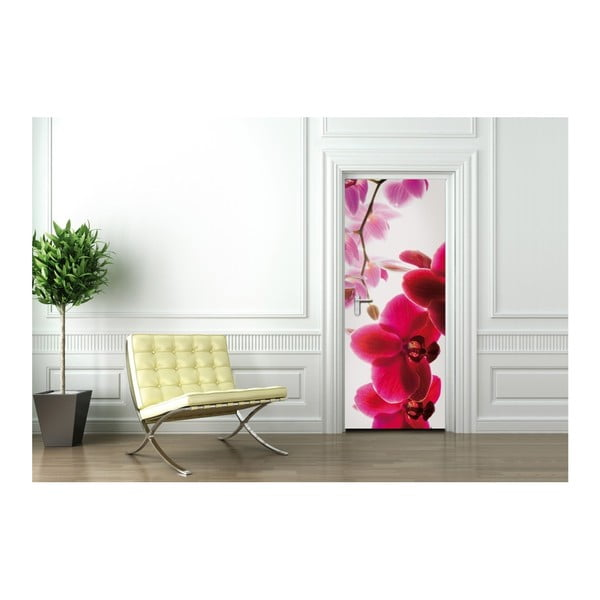 Tapeta na dveře Orchid