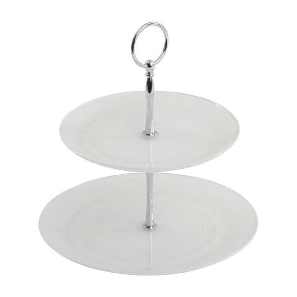 Skleněný stojan White Plate