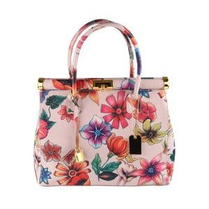 Růžová kožená kabelka Matilde Costa Sapporo