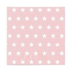 Set 20 șervețele Star Rosa