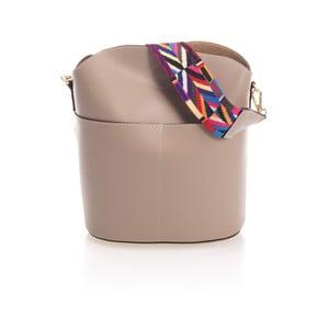 Béžová kožená kabelka Markese Ranna