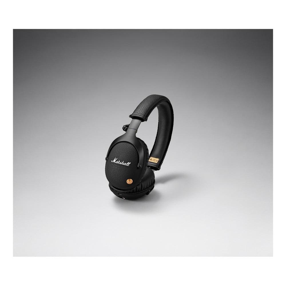 Černá bezdrátová sluchátka Marshall Monitor
