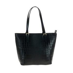 Černá kožená kabelka Tina Panicucci Classo