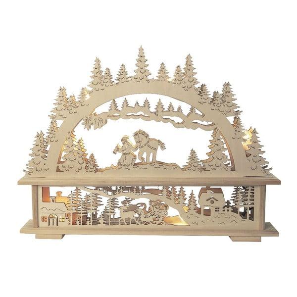 Svítící dekorace Santa in Forest