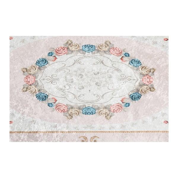 Sametový koberec Deri Dijital Maluna Powder, 80x150cm