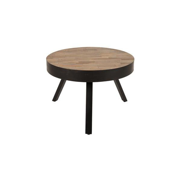 Konferenční stolek z recyklovaného teakového dřeva White Label Suri, Ø58cm