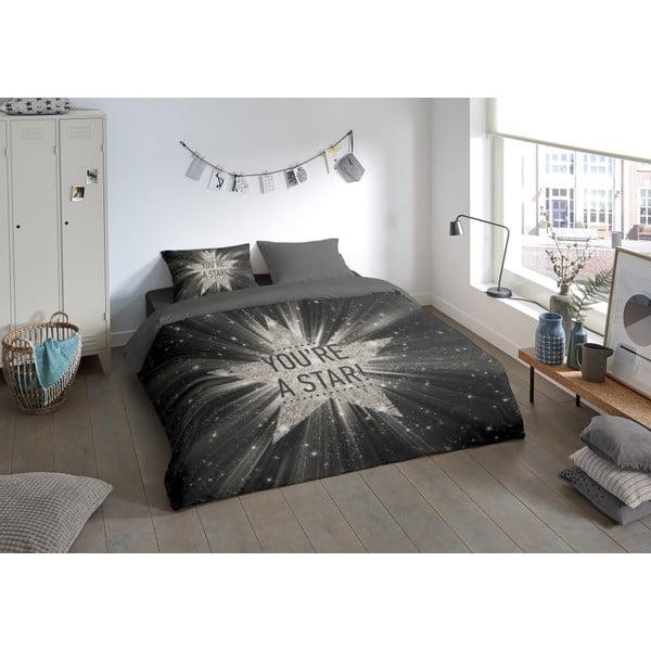 Povlečení na dvoulůžko z mikroperkálu Muller Textiels Snowflake, 200 x 240 cm