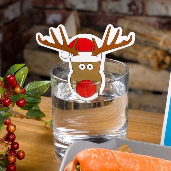 Sada 10 ozdob na skleničky Neviti Christmas Craft Rudoplh