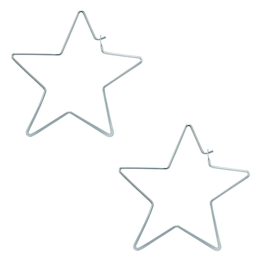 Dámské náušnice stříbrné barvy Runaway Stars