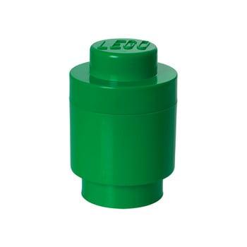 Cutie depozitare rotundă LEGO®, verde, ⌀ 12,5 cm imagine