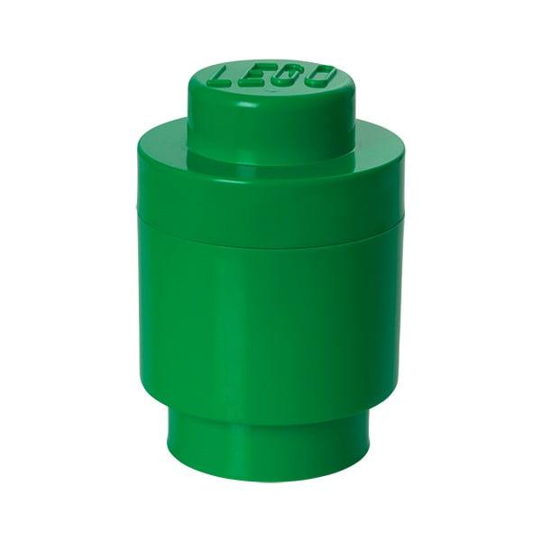 Cutie depozitare rotundă LEGO®, verde, ⌀ 12,5 cm