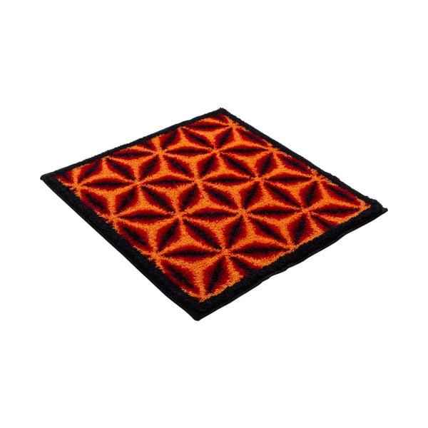 Koupelnová předložka Kolor My World XIV 60x60 cm, pomerančová