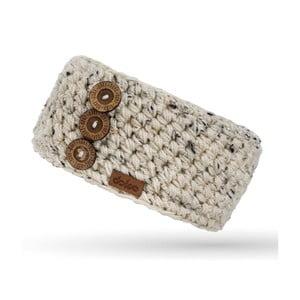 Bentiță tricotată manual DOKE Sirius, crem