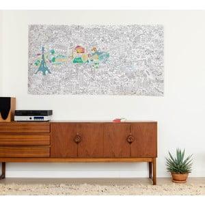 Omalovánka OMY Paris XXL (180 x 100 cm)