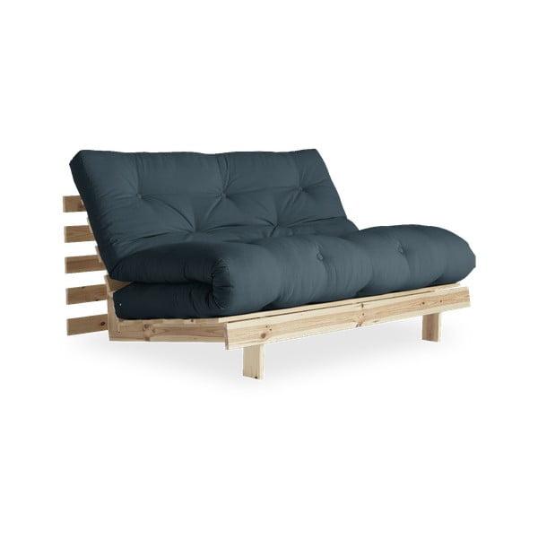 Sofa rozkładana z niebieskozielonym obiciem Karup Design Raw/Petrol Blue
