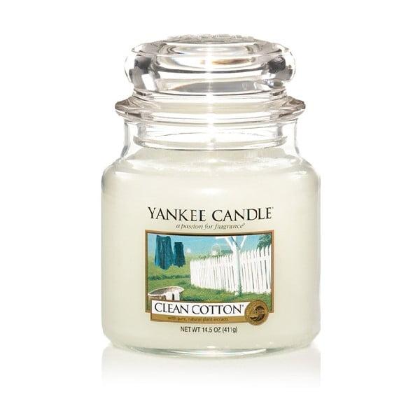 Vonná svíčka Yankee Candle, Čistá bavlna