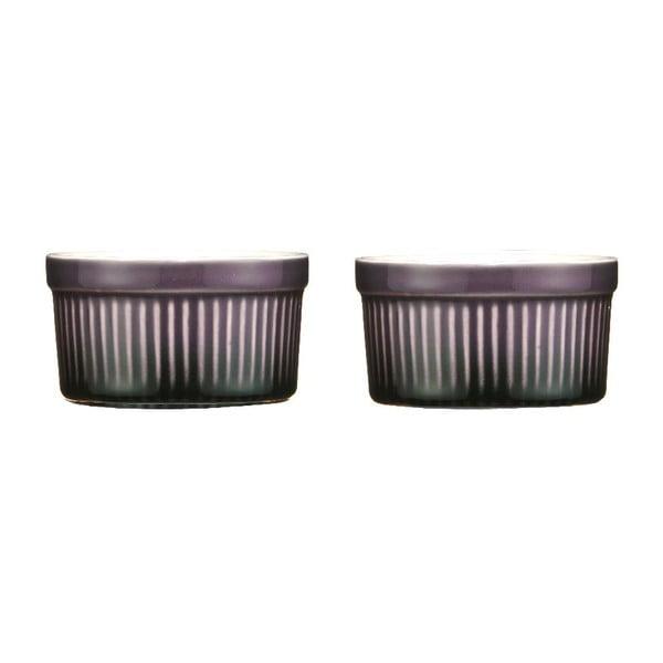 Set 2 zapékacích misek Purple Stoneware