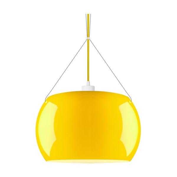 Žluté lesklé závěsné svítidlo Sotto Luce MOMO