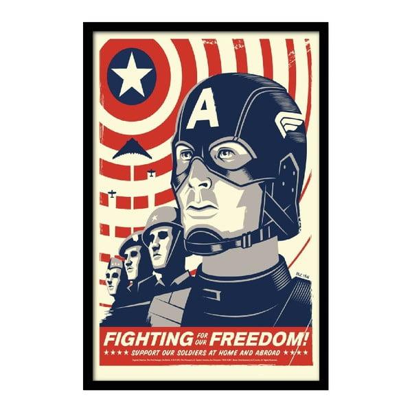 Plakát Fighting Freedom, 35x30 cm