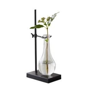 Skleněná váza s černým podstavcem Native Laboratory