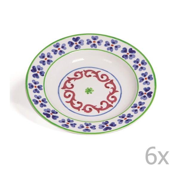 Sada 6 polévkových talířů Toscana Anghiari, 22.5 cm