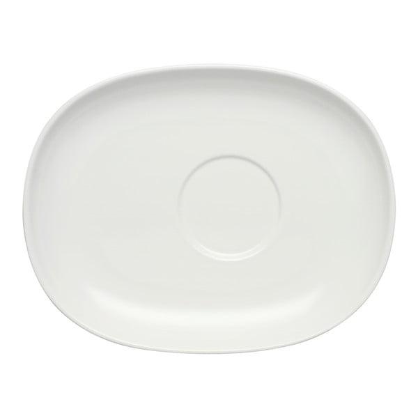 Bílý porcelánový podšálek Villeroy & Boch Urban Nature, 19,5 x 15 cm