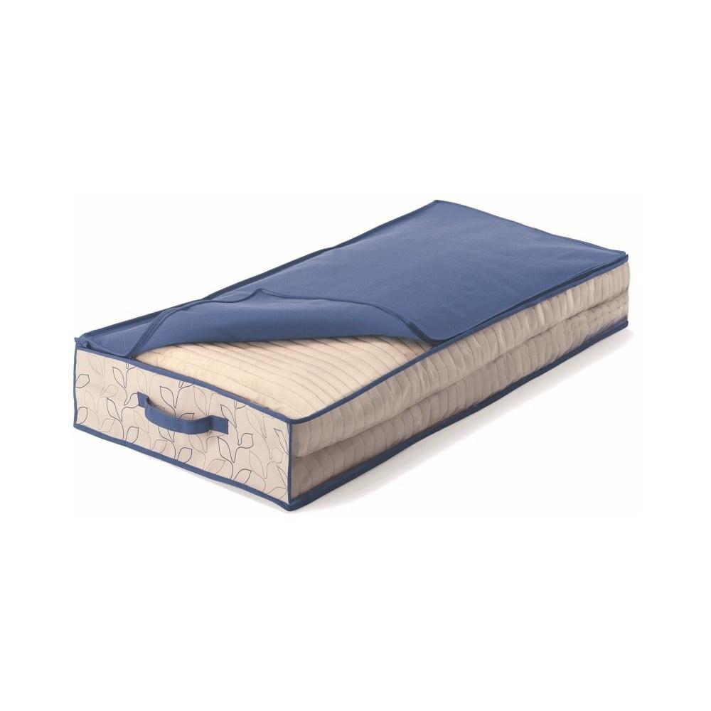 Modrý úložný box pod postel Cosatto Bloom, šířka 50 cm