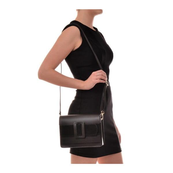 Černá kožená kabelka Sofia Cardoni Runa