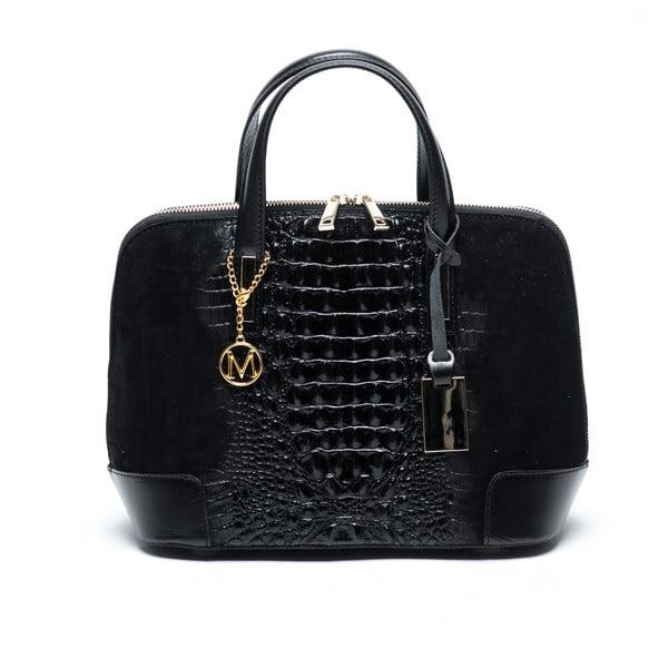 Černá kožená kabelka Mangotti Jasminum