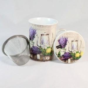 Hrnek s filtrem a víčkem Fleurs de Provence