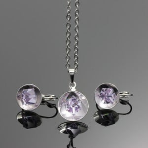Set Swarovski Elements Bijouterie Violet