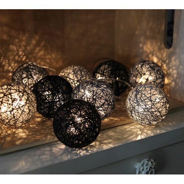 Černý světelný LED řetěz Best Season Jolly Lights, 10 světýlek